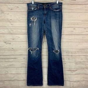 Joe's Jeans rocker bootcut distressed ripped jeans